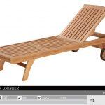 outdoor sunlounger