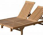Teak Furniture twin sun loungers