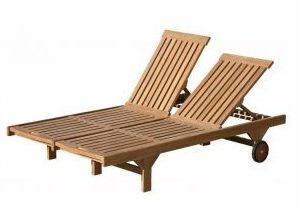 twin sunbeds teak toutdoor furniture